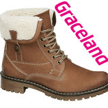 Шкіряні чобітки трансформери для дівчат 32-36р Graceland Німеччина