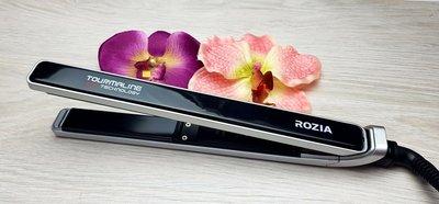 Утюжок плойка выпрямитель для волос Rozia с турмалиновым покрытием
