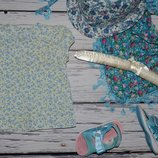1 - 2 года 80 - 86 см фирменная майка блузка блуза рубашка для модниц цветы прованс
