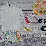 2 - 3 года 98 см фирменные легкие классические шорты шортики цветы Зара Zara