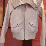 Кожаная куртка New Look натуральная кожа размер 40