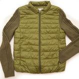 Куртка AVVN с вязанными рукавами для девочки 15-17 лет, 150-155 см