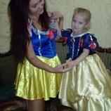 Карнавальное платье Белоснежки взрослое.