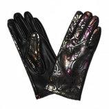 Женские перчатки из экокожи с сенсорными пальчиками на флисовой подкладке
