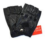 Мужские кожаные перчатки без пальцев