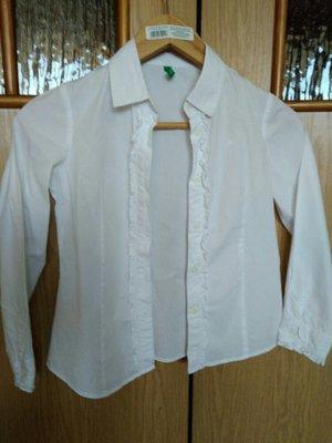 b83c04b244f Очень качественная Блузка в школу для девочки. 100% хлопок. Benetton ...