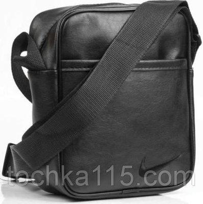 Мужская кожаная сумка через плече NIKE малая барсетка мужская