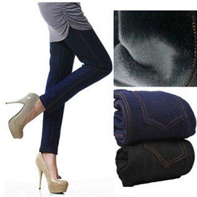 Зимние лосины на Меху в стиле джинсов, на Об от 80 до 115 см