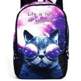 Рюкзак космос С котом Галактика Кот в очках