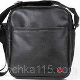 Мужская барсетка сумка reebok рибок большая и малая логотип черный белый