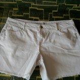Белые джинсовые шорты george 44-46 размера