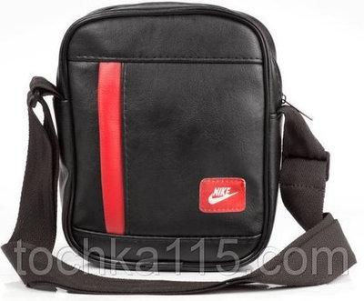 a70a6aef80ec Мужская кожаная сумка через плече NIKE найк черная красная. Previous Next