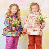Куртка демисезонная для девочки Цветы 1,5-5лет