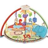 Fisher-Price Развивающий музыкальный коврик зоопарк с мобилем Luv U Zoo Deluxe Musical Mobile Gym