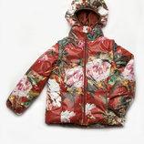 Куртка-Жилетка для девочки Акварель, 5-8 лет