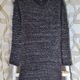 Тёплое платье-травка Kiabi на девочку 14 лет/152-158 см