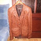 Новый кожаный пиджак-куртка размер XXL