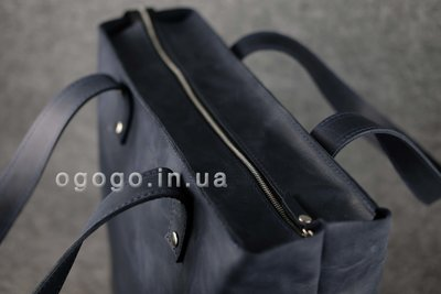04ce047f54f1 Большая синяя кожаная женская сумка шопер K00009-11. Previous Next