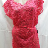 Платье-Туника пляжное Грейс 025-2 цвет малиновый на наши 46-50 размеры