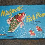 отличная винтажная настольная игра Magnetic Fish Pond Spear's Англия оригинал