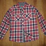 Плотная рубашка на 10 лет рост 140 см от TU , 100% котон. сделана в Бангладеш замеры длина 55, ши