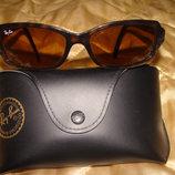 солнцезащитные очки Ray-Ban оригинал Италия винтаж идеал коричневый