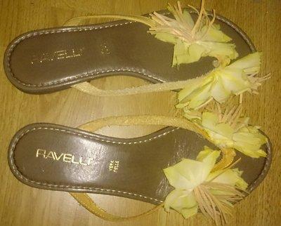 стильні вєтнамки квітка шкіра р38 та 39 Італія Ravelli нові