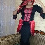 Карнавальное платье Леди Вамп на Хеллоуин.