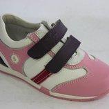 Кроссовки яркие кожаные для девочки B&G