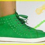 Стильные Зеленые Ботиночки Барселона-Clowseс Биркой