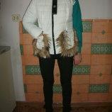 куртка жилетка новинки белый -серый цвета