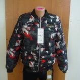 Куртка женская бомбер абстракция в наличии новая m l xl