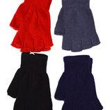 Детские трикотажные перчатки унисекс без пальцев - длина 16 см