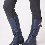 Женские кожаные сапоги.Осень-зима.Новинка