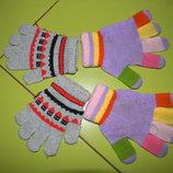 перчатки деми на 2-6 лет б у