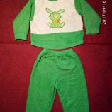 Теплая детская пижама, б/у