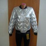 Новинка Куртка женская блестящая бомбер в наличии новые l xl xxl