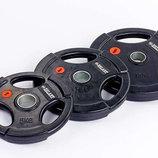 Блины обрезиненные диски обрезиненные с тройным хватом и металлической втулкой 5160-2,5 вес 2,5кг