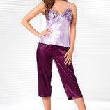 Olga Irall атласная домашняя одежда пижама капри