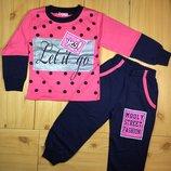 Теплый спортивный костюм для девочки рр. 104-128 Beebaby Бибеби