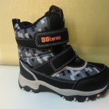 Зимние теплые сапожки 22-27 р. B&G на мальчика, биджи, би-джи, сапоги, ботинки, термо, зимові