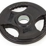 Блины обрезиненные диски обрезиненные с тройным хватом и металлической втулкой 8122-2,5 вес 2,5кг