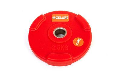 Блины полиуретановые диски полиуретановые с хватом и металлической втулкой 5336-2,5 вес 2,5кг, d