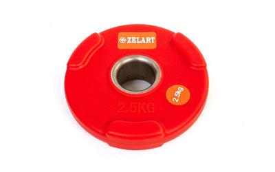 Блины полиуретановые диски полиуретановые с хватом и металлической втулкой 5336-2,5 вес 2,5кг
