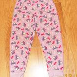 Флисовые фирменные брюки для девочки 6-7 лет. 116-122 см