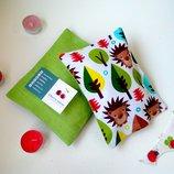 Сухая подушка-грелка с Эко-Наполнителем, вишневыми косточками. Цена производителя