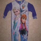 теплый флисовый человечек слип пижама Disney 3-4 г
