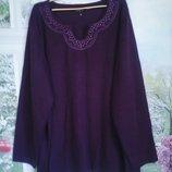 кофта женская цвет баклажан большой размер на шикарную пани