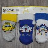 Детские махровые носочки набором из 3-х пар на мальчика турецкой фирмы Bross