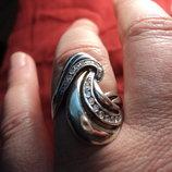 кольцо женское серебро размер 19